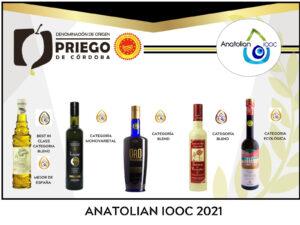 Premios Anatolian DOP Priego de Córdoba
