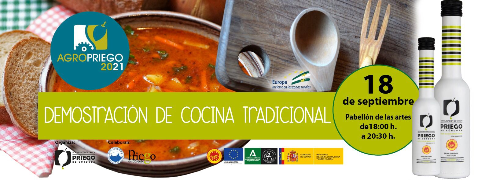 Demostración de Cocina Tradicional Agropriego 2021 - DOP Priego de Córdoba