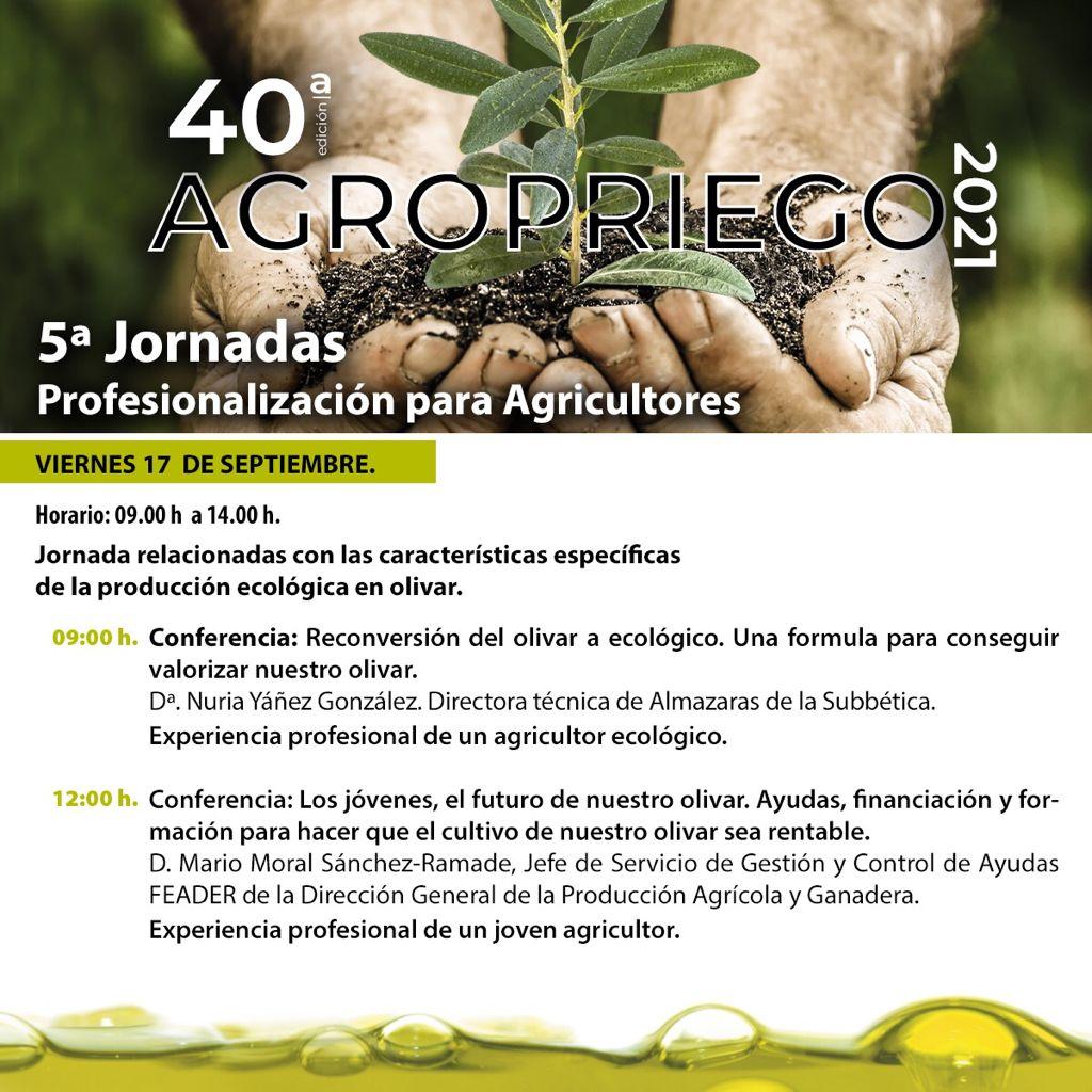 Jornadas de Profesionalización Agropriego 2021 - DOP Priego de Córdoba