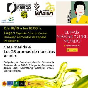 Cata maridaje DOP Priego y DOP Sierra Mágina - DOP Priego de Córdoba
